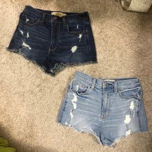 Hollister High Waisted Shorts Lot